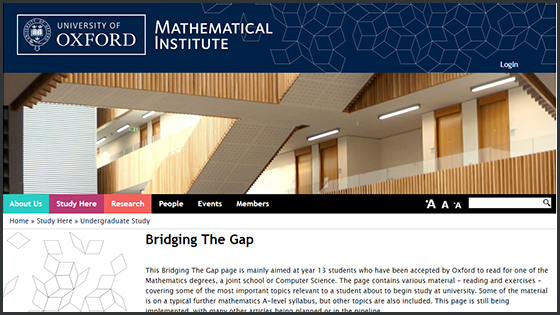 Screenshot of the MPLS Bridging the Gap Web page