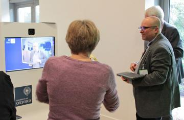 A learning technologist shows academics the video creation tool RapidMooc