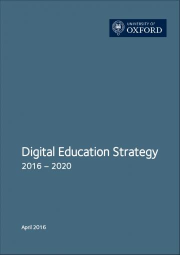 Cover of the Digital Education Strategy 2016-2020 final