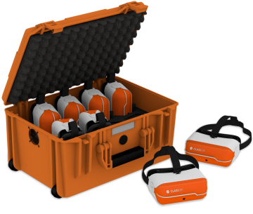classroom set 8 vr headsets case