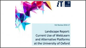 Current Use of WebLearn and Alternative Platforms at the University of Oxford