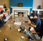 Students at Lady Margaret Hall wearing VR headsets to explore Ancient Rome in their History class