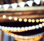 fairy light and a banter out of focus